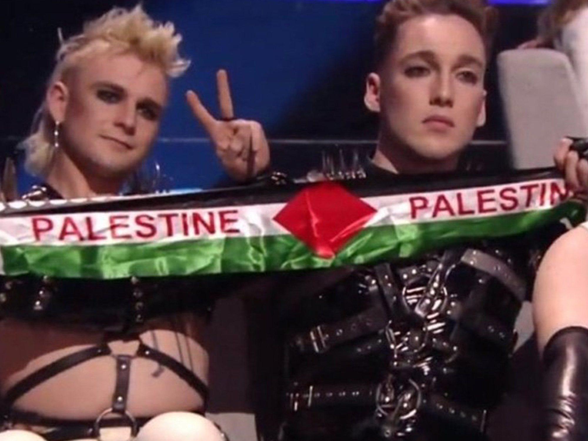 La UER sancionará a Islandia por las banderas de Palestina que Hatari ondeó en Eurovisión