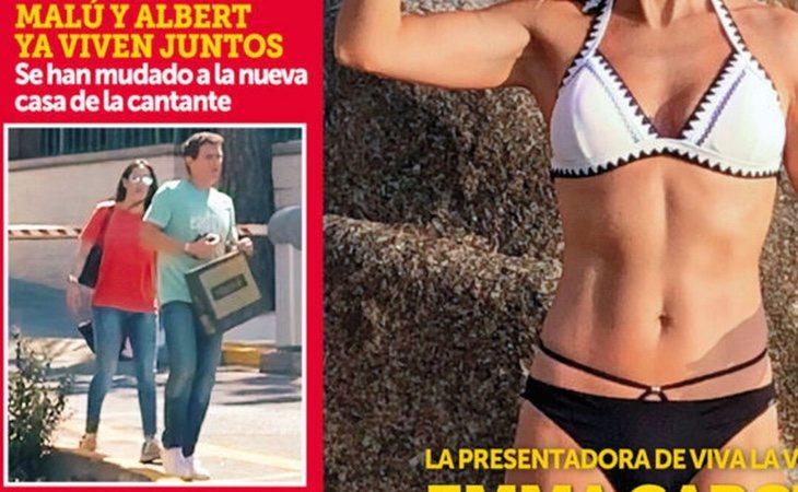 Portada de la revista Semana, que muestra a la pareja juntos en los exteriores de su nueva casa en La Florida (Madrid)