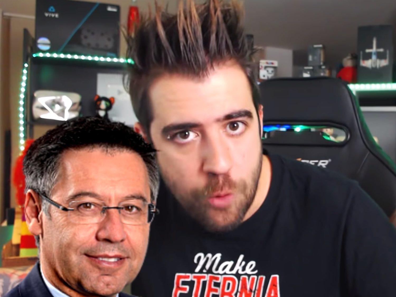 Bartomeu, presidente del Barça, denunció a AuronPlay por haberle llamado 'Nobita'