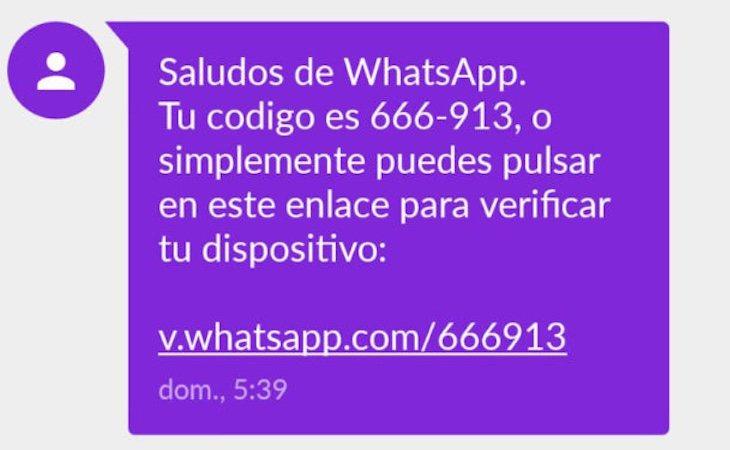 El mensaje de verificación de Whatsapp se trata de una estafa
