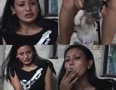 Buscan a una mujer tras grabarse apagando un cigarro en el ojo de su perro tras golpearlo