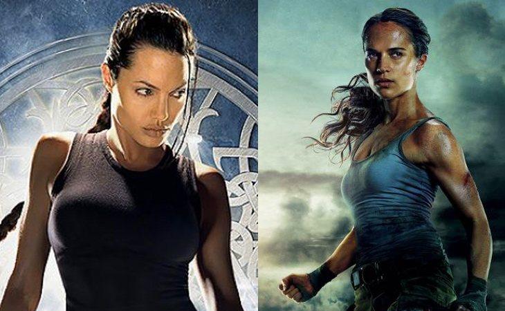 Angelina Jolie y Alicia Vikander son las dos actrices que han interpretado a Lara Croft