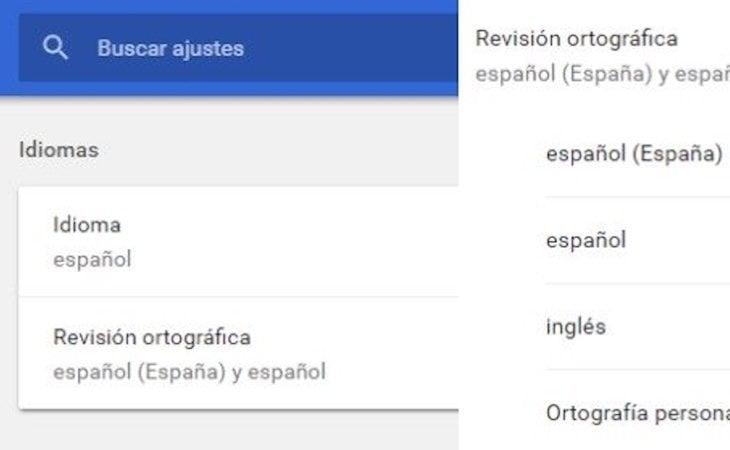 Pasos para desactivar el corrector en Google Chrome