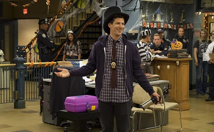 Jake en la apuesta de Halloween en 'Brooklyn Nine-Nine'