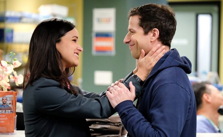 Amy y Jake en 'Brooklyn Nine-Nine'