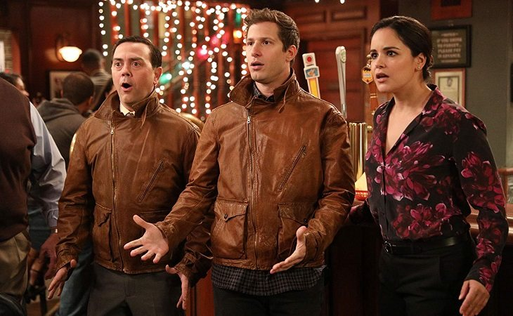 Charles, Jake y Amy en 'Brooklyn Nine-Nine'