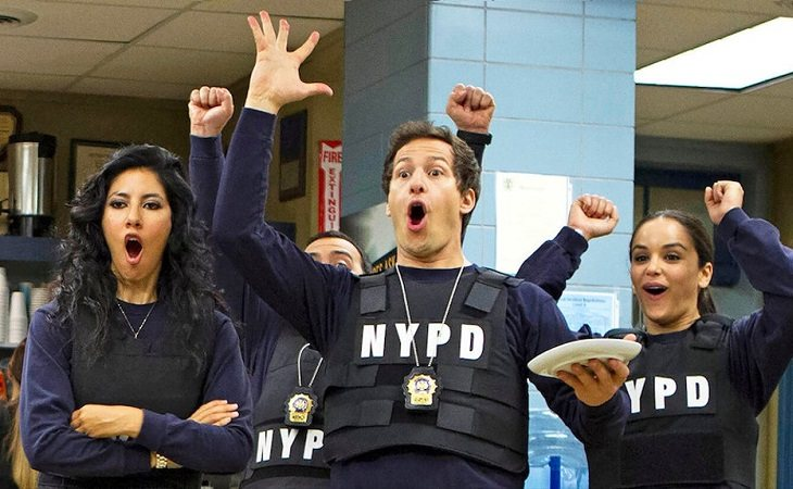 Rosa, Jake y Amy en 'Brooklyn Nine-Nine'