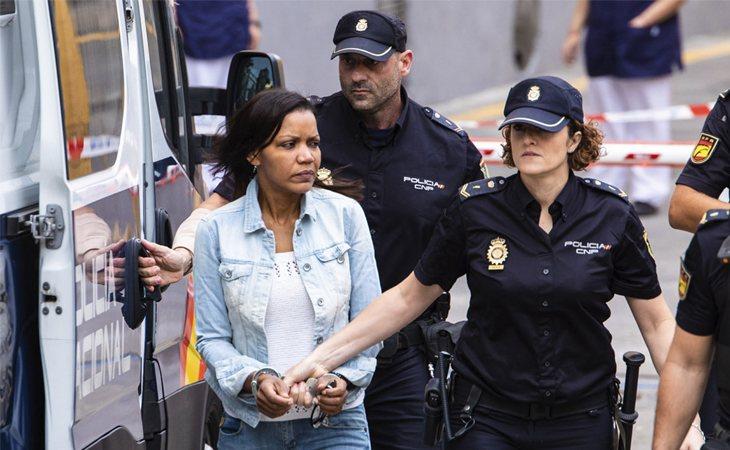 Ana Julia Quezada, a su llegada a la Audiencia Provincial de Almería para la tercera sesión del juicio por el caso Gabriel