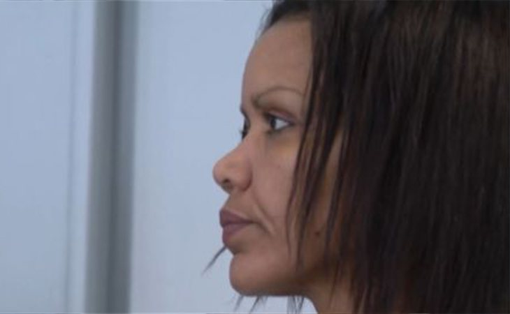 Ana Julia Quezada durante el juicio