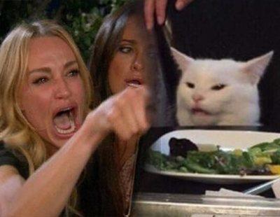 """""""Me dijiste que..."""": El origen detrás del viral meme de la mujer gritando a un gato"""