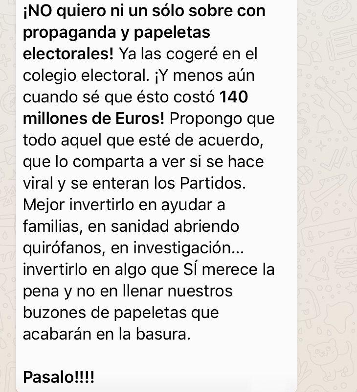 Campaña para desactivar la recepción de propaganda electoral