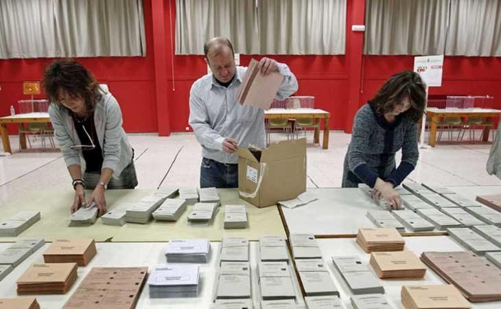 Preparación de un colegio electoral