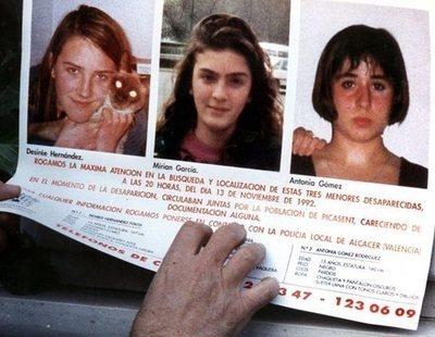 Buscan al tercer hombre que dejó cuatro pelos entre los restos de las niñas de Alcásser