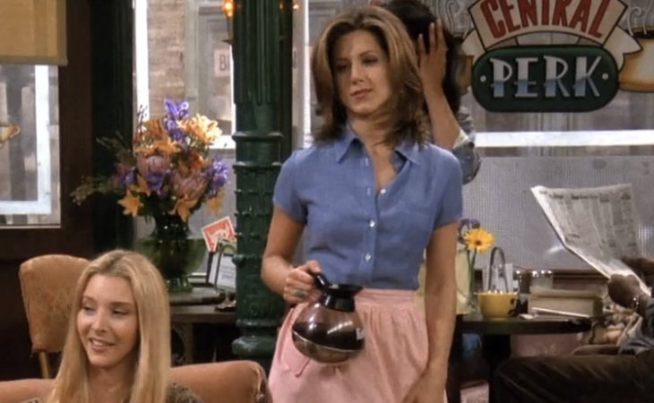 Rachel trabaja en el Central Perk en 'Friends'