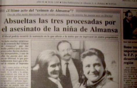 El crimen de Almansa tuvo una gran repercusión en 1990