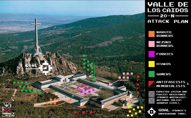El plan de 'ataque' contra El Valle de los Caídos
