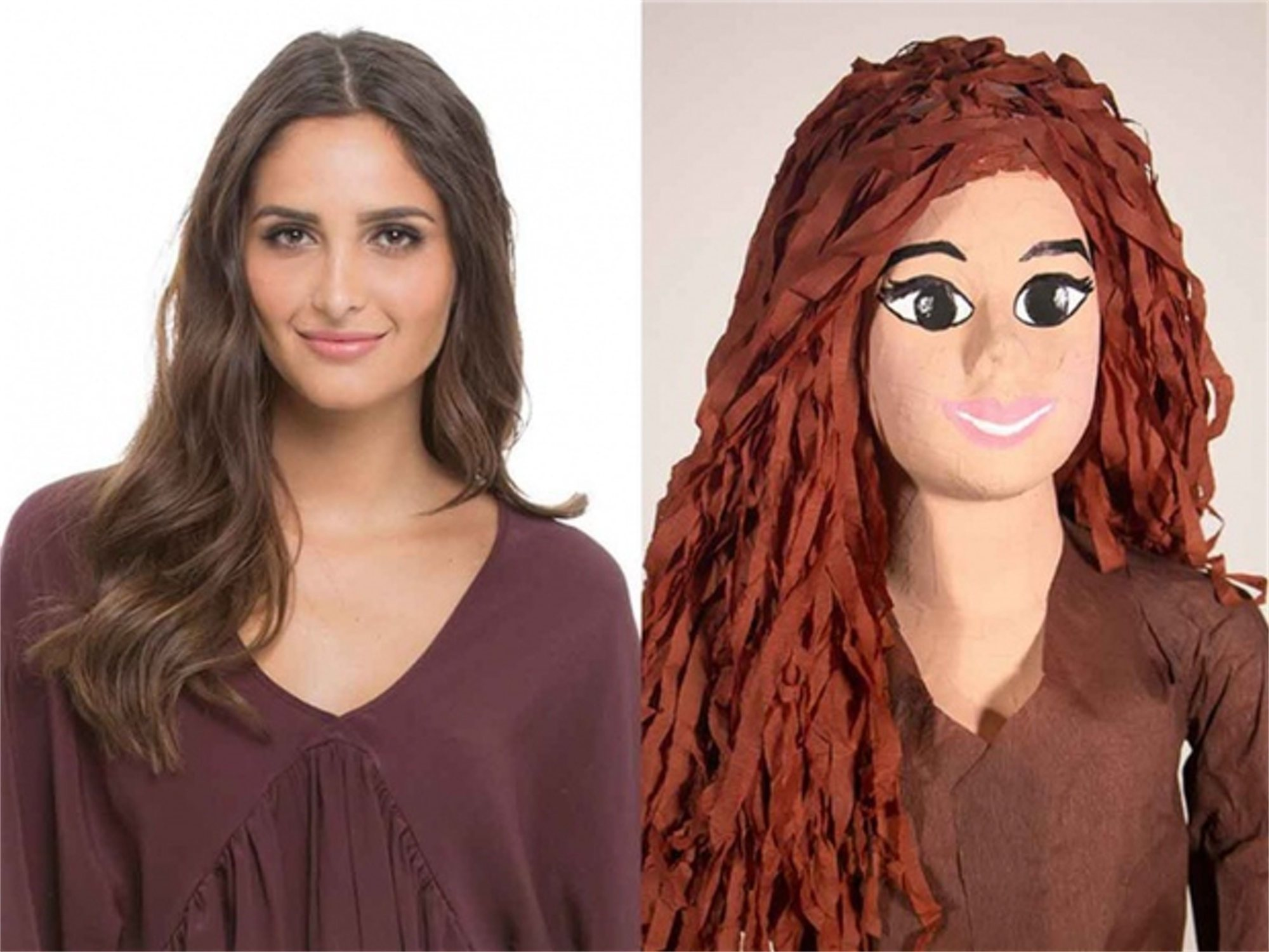 """Lanzan piñatas con forma de mujer para """"satisfacer el deseo de golpearlas"""""""
