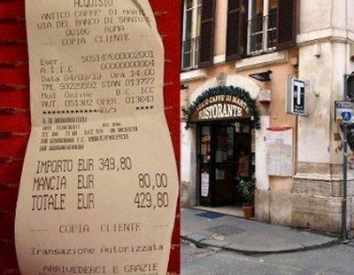 Nuevo 'sablazo' a dos turistas japonesas: 430 euros por unos espagueti en Roma