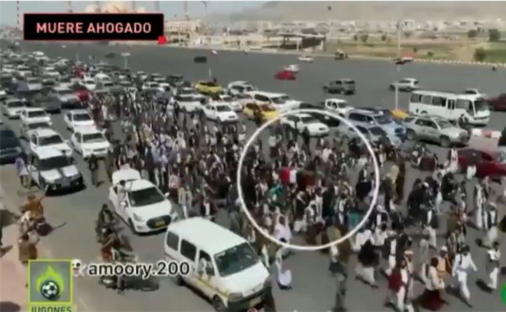 Así recibieron en Saná, capital de Yemen, el cuerpo del deportistaHelal Ali Mohammed Al-Hajj