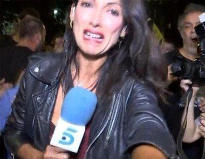 Una periodista de Telecinco, sufre una agresión en la manifestación del 1-O en Barcelona