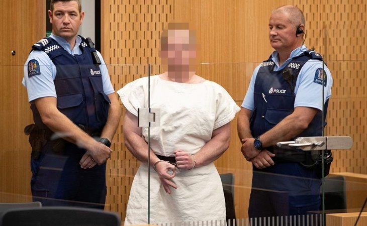 Brenton Tarrant durante el juicio