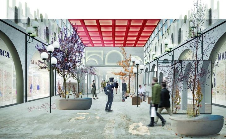 Propuesta del Madrid Fashion District, el modelo que espera reconvertir el almacén recientemente clausurado en Arroyosur