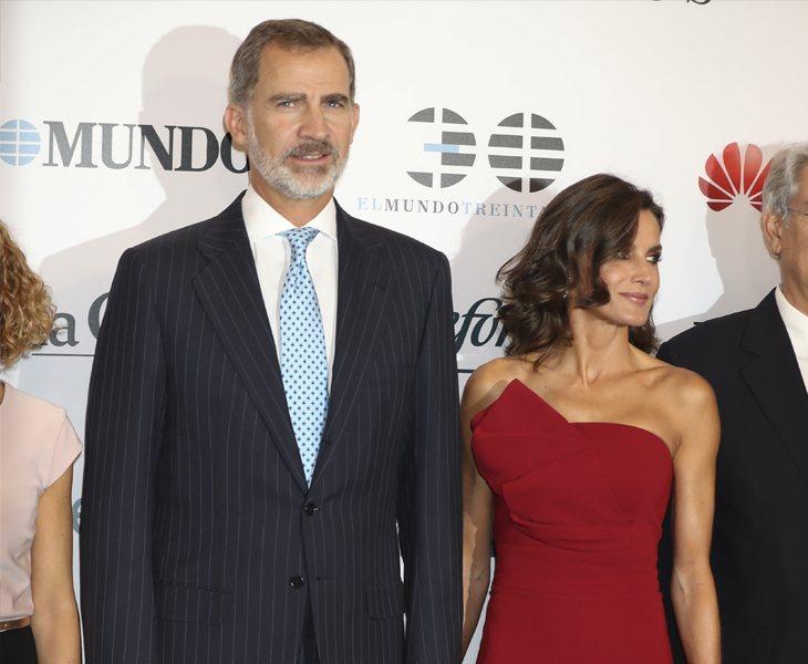 Felipe VI y Letizia en la fiesta de aniversario de El Mundo