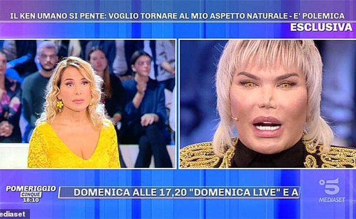 El Ken Humano confesó ante toda Italia que volvería a su aspecto natural si pudiera
