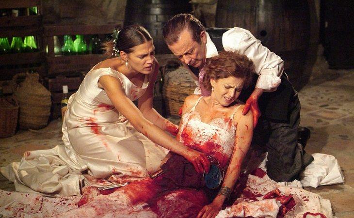Pepa y don Lorenzo ayudan a Silvia en su boda en 'Los hombres de Paco'