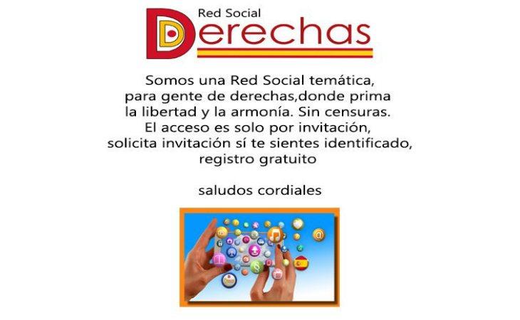 Dderechas está presente en Twitter y Facebook