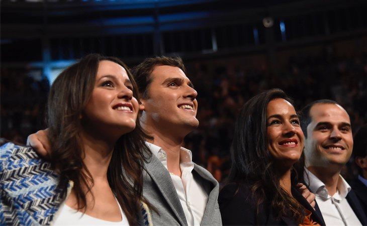 Inés Arrimadas, Albert Rivera, Begoña Villacís e Ignacio Aguado, cuando Ciudadanos era un partido de centro