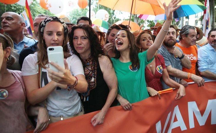 Ciudadanos, con Inés Arrimadas al frente, en el Orgullo LGTBI