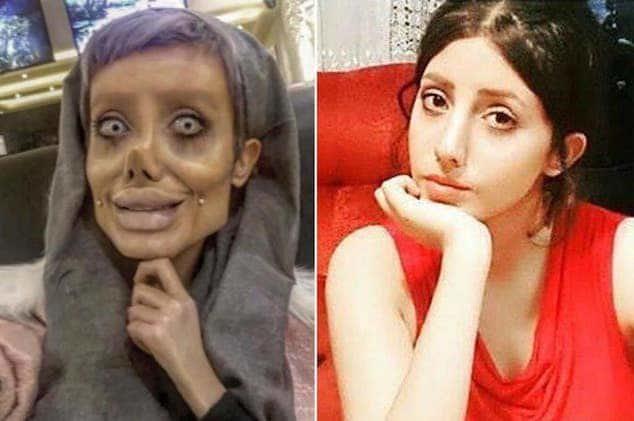 Sahar Tabar, con y sin maquillaje