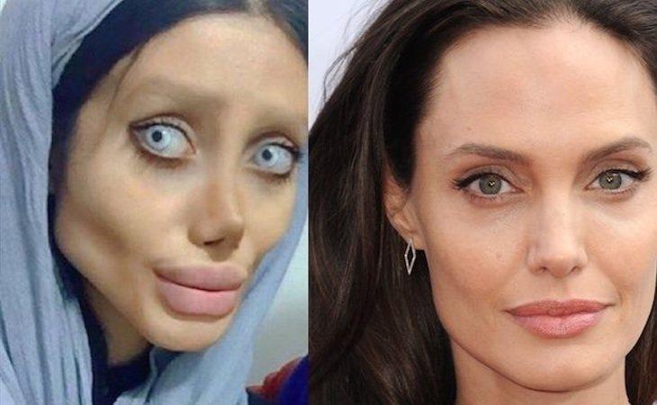 Sahar y Angelina Jolie
