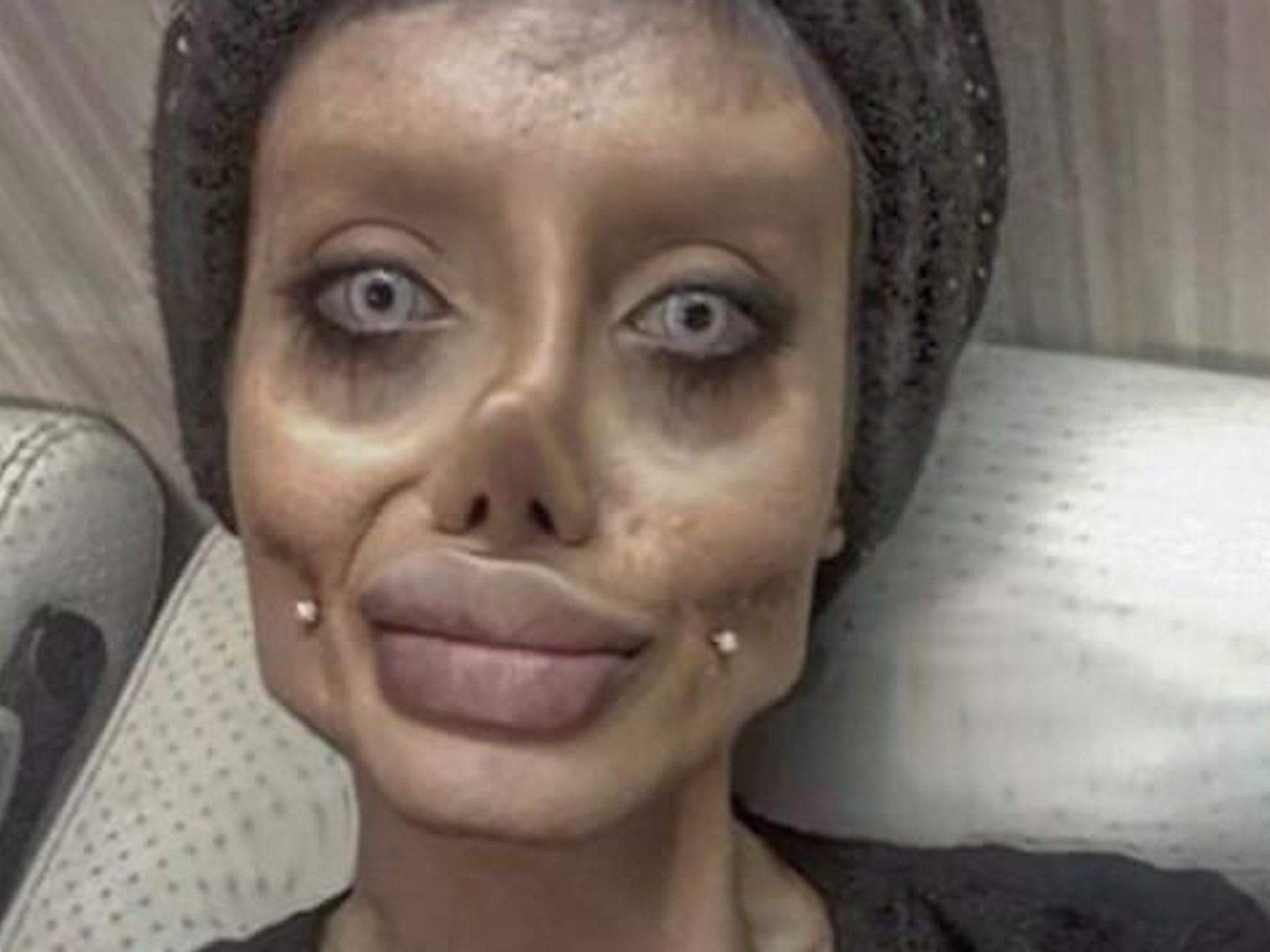 """Arrestada por """"crímenes culturales"""" la joven iraní conocida como la """"doble zombie de Angelina Jolie"""""""