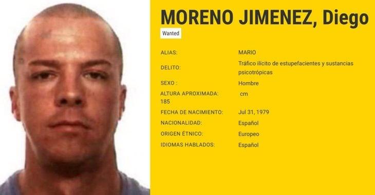 Ficha de Diego Moreno Jiménez | Fuente: Europol