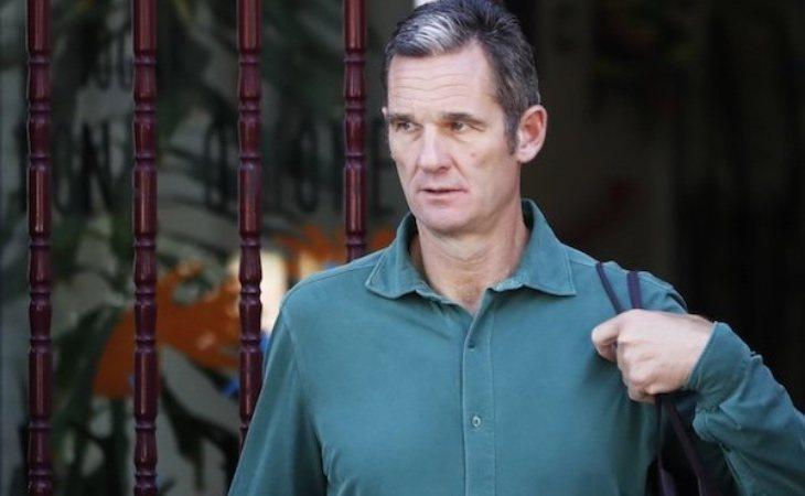 Urdangarin, con su característica camisa verde