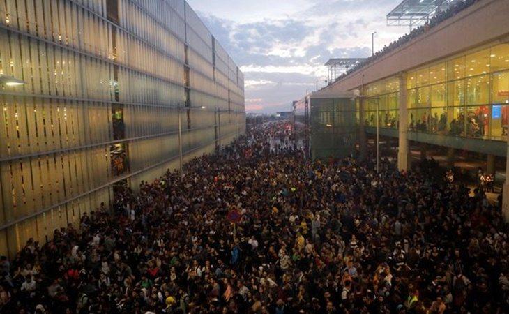 Protesta en el Aeropuerto de El Prat