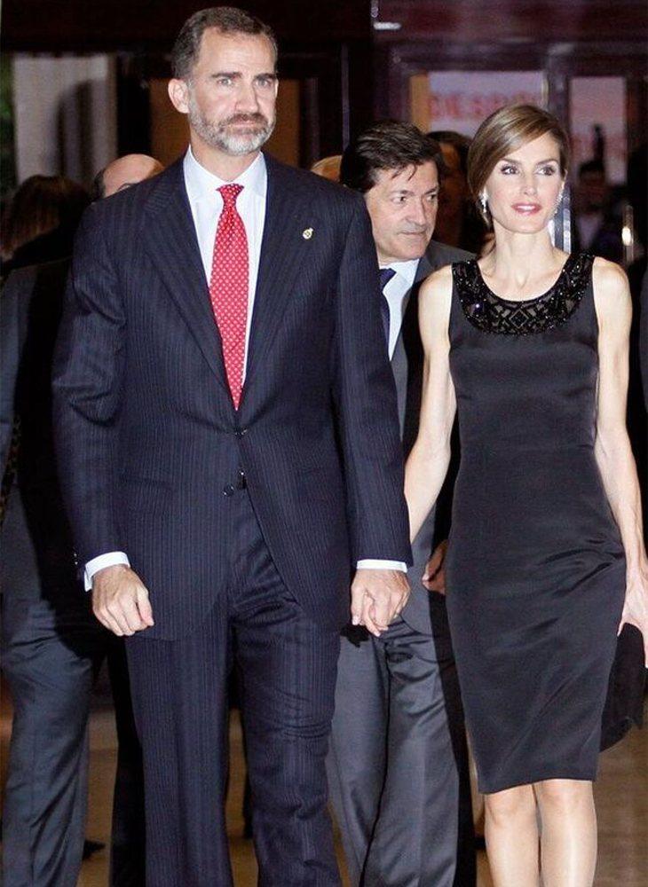 La reina Letizia y el rey Felipe VI asisten al concierto en 2014