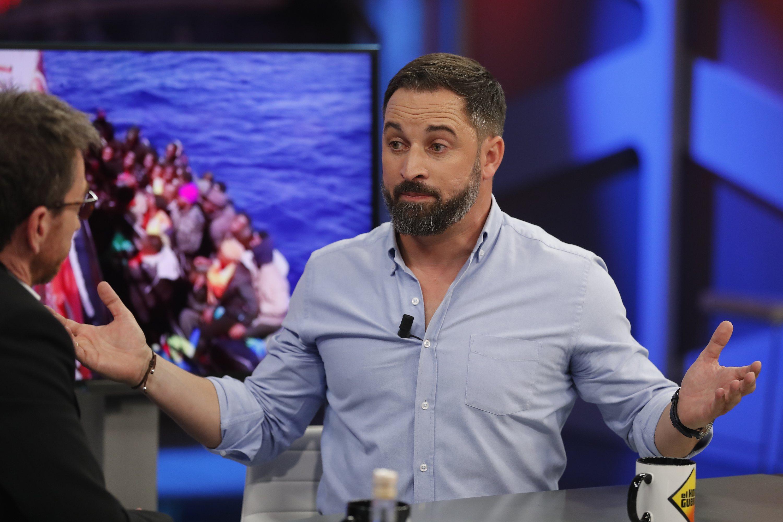 Santiago Abascal hablando sobre la crisis de los refugiados en 'El Hormiguero'