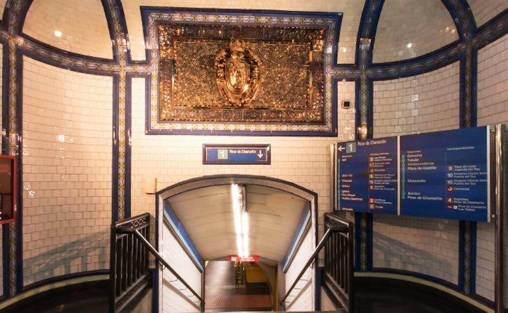 Los huesos de los monjes están emparedados en la estación de Tirso de Molina | Fuente: Metro de Madrid