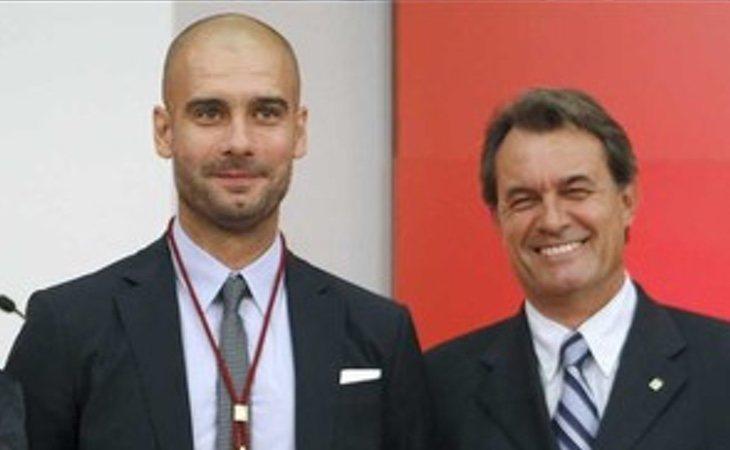 Guardiola ya había colaborado con Artur Mas cuando cerró su lista en las elecciones de 2015