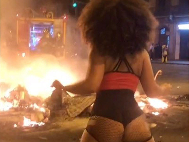 Twerking ante los disturbios de Barcelona: ¿protesta o frivolidad?