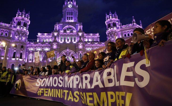 Manifestación por el día de la mujer en Madrid