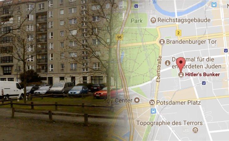 El emplazamiento donde estaba el búnker en el que murió Hitler fue reemplazado por un aparcamiento