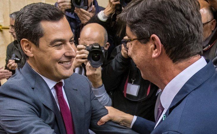 Juan Manuel Moreno Bonilla (PP) y Juan Marín (Cs), presidente y vicepresidente de Andalucía