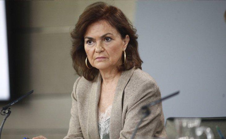 La vicepresidenta Carmen Calvo: