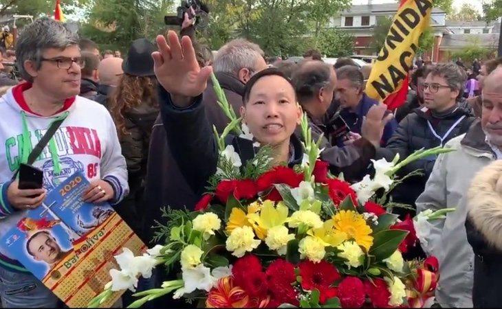 Saludos fascistas y vítores al golpista Tejero durante la concentración ilegal en Mingorrubio