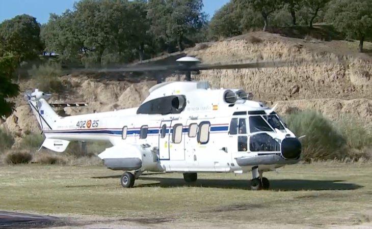 El helicóptero ya ha aterrizado en el cementerio de Mingorrubio, donde será enterrado Franco