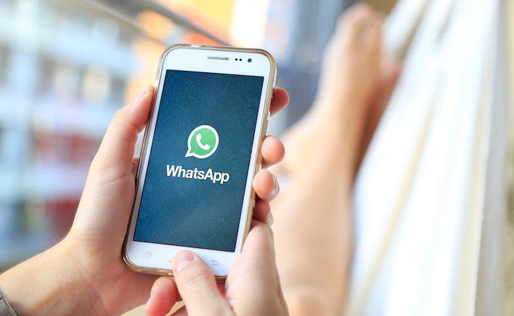 Pantalla de inicio de la aplicación WhatsApp